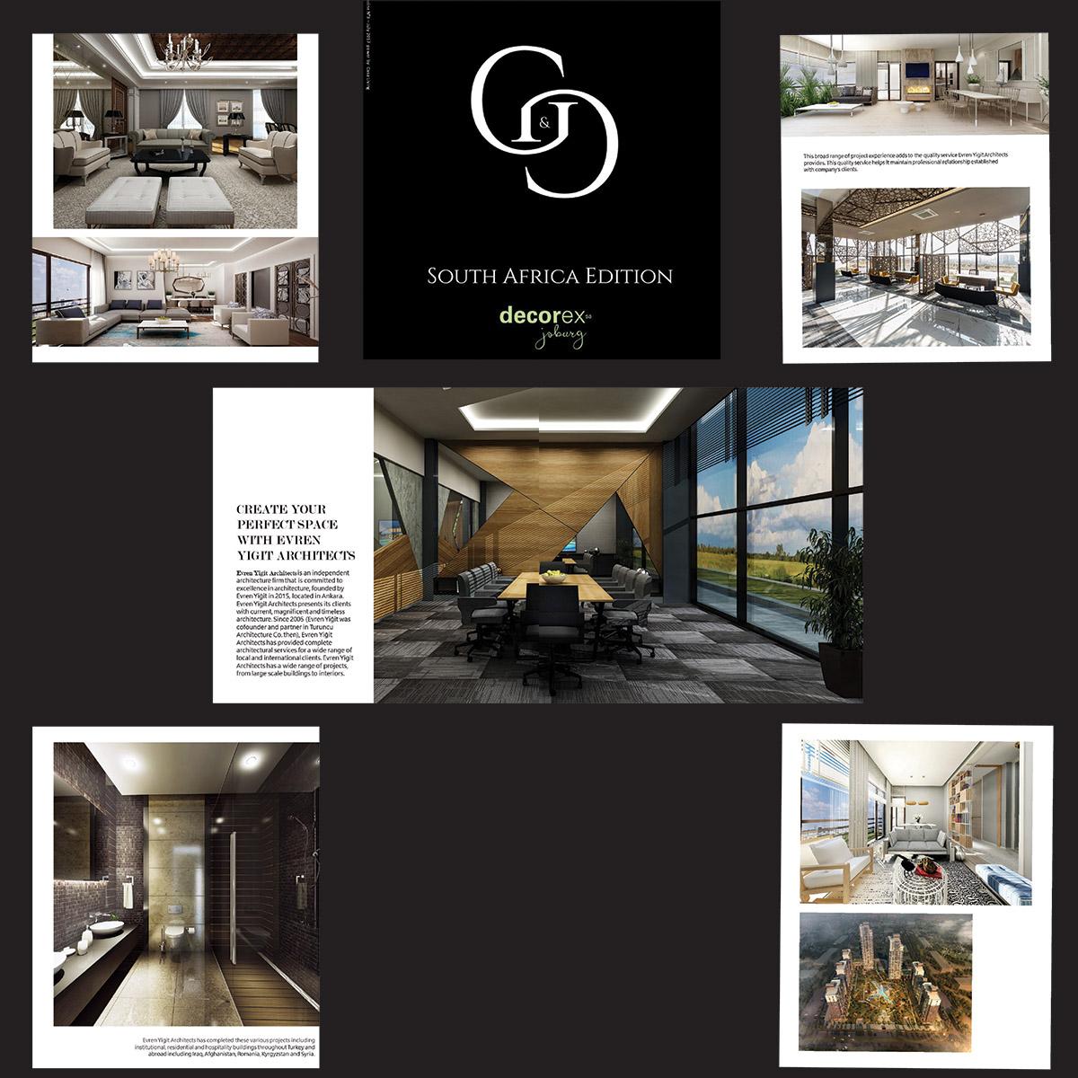 Evren Yiğit | Evren Yiğit Mimarlık G&G dergisinin Decorex Güney Afrika sayısında | Sıradışı Digital