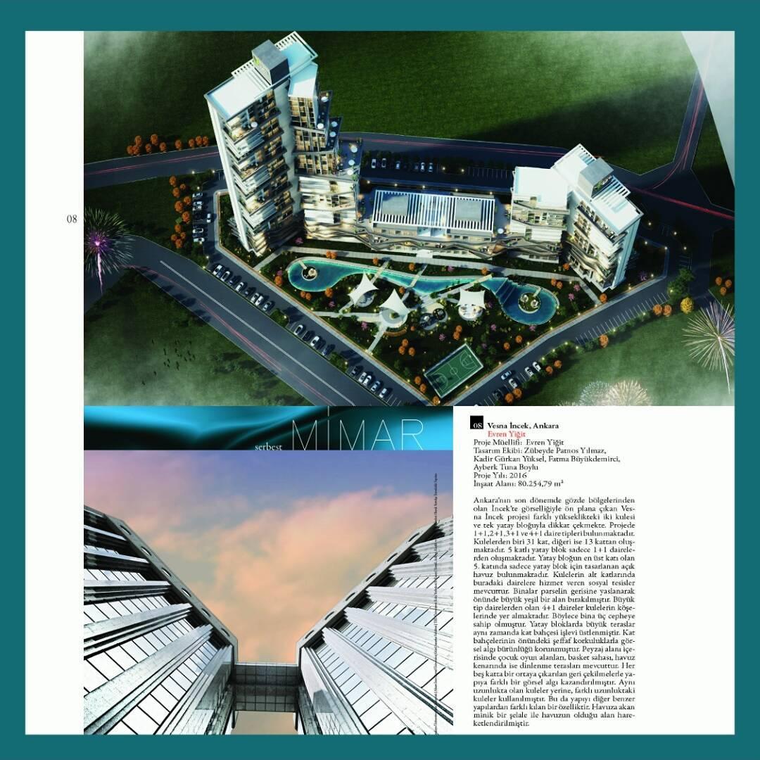 Evren Yiğit   Vesna Incek projemiz 'Serbest Mimar' dergisinin 25. sayısında   Sıradışı Digital
