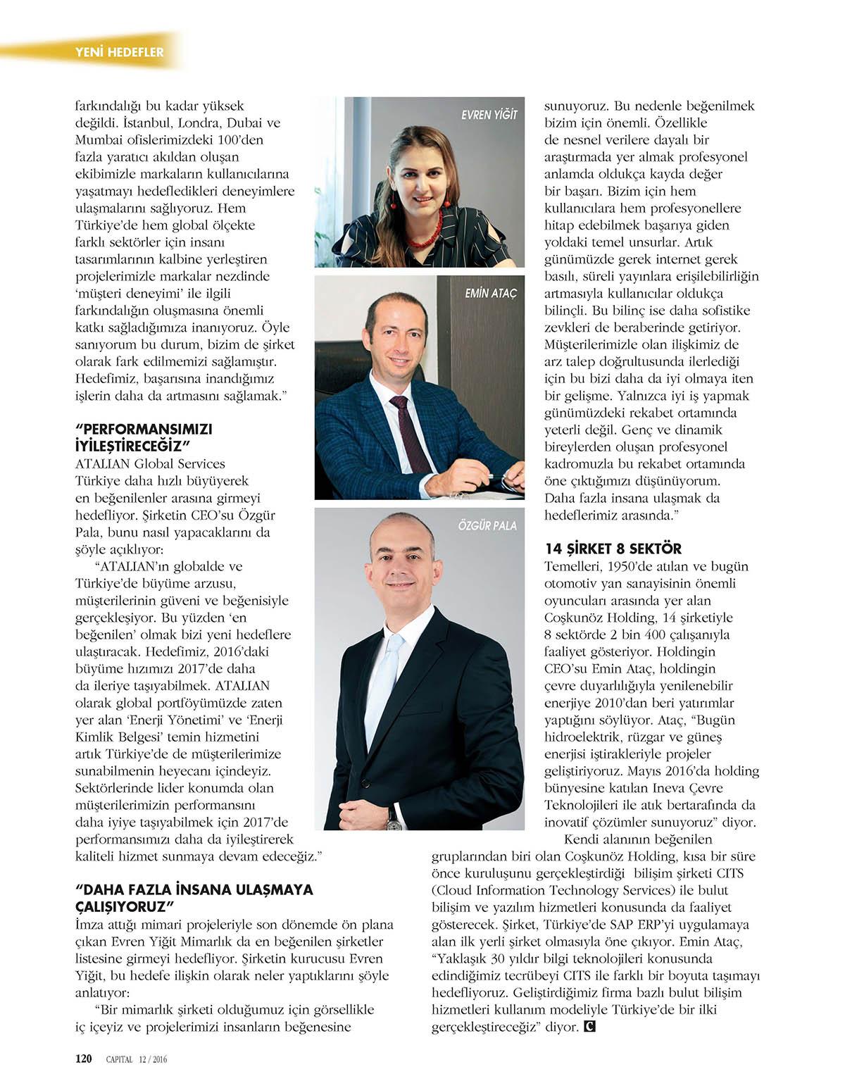 Evren Yiğit | Evren Yiğit Capital dergisinin Aralık sayısında | Sıradışı Digital